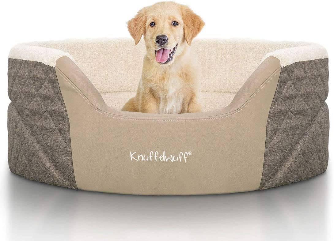 Knuffelwuff Orthopädisches Hundebett mit hohem Rand